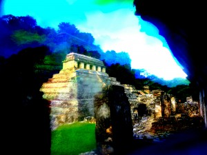 Mayan Temples, Palenque, Yucatan, Mexico